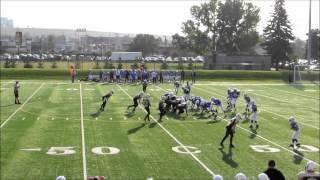 Canadian Football Calgary Bulldogs Bantam Tyler Santos 2013 highlights #2 Running Back 13 years old