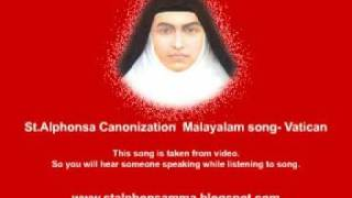 St.Alphonsa Canonization  Malayalam song- Vatican