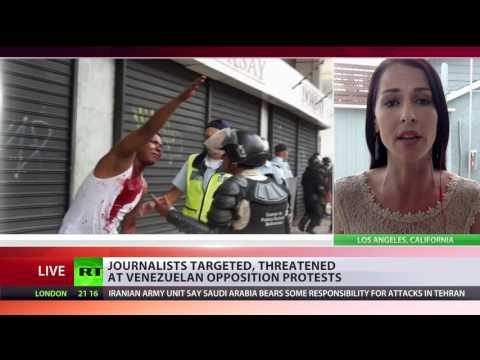 'Second you contradict the narrative, they threaten to kill you' – US journo on Venezuelan protests