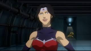 Лига справедливости: Война / Чудо-женщина и Супермен спасают президента от приспешников Дарксайда
