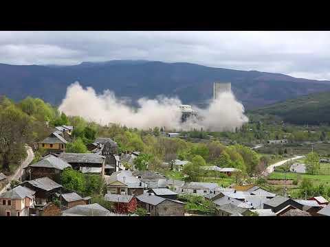 Vídeo de la voladura de la central térmica de El Bierzo en Anllares
