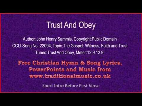 Trust and Obey - Christian Gospel Song Lyrics and Chords