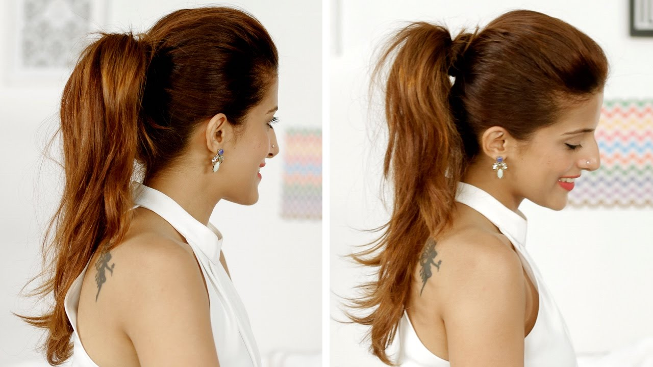 Ponytail  Trick How To Add Volume  To Your Ponytail  Quick