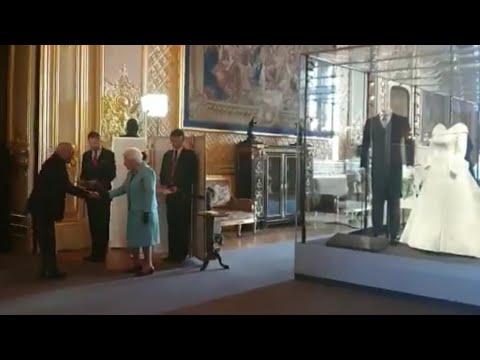 Queen Elizabeth Hosts Reception Next To Princess Eugenie&39;s Wedding Dress NCVO Windsor Castle 2019