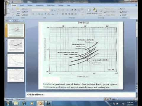 Mod-03 Lec-04 Tutorial On Reactor Design And Cost Estimation