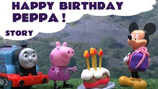 Peppa Pig Story Thomas and Friends Disney Mickey Mouse Play Doh Happy Birthday Surprise Playdough