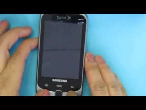Hard Reset Samsung Moment SPH-M900 Sprint