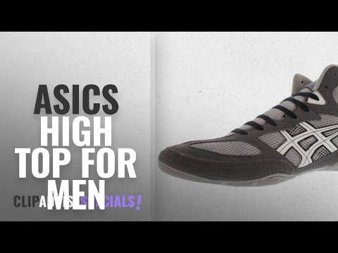 Top 10 Asics High Top [2018 ]: Asics Men's Matflex 4 Wrestling Shoe,Granite/White/Black,8 M US