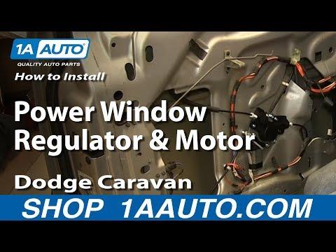 How To Install Replace Power Window Regulator and Motor 2001-03 Dodge Caravan