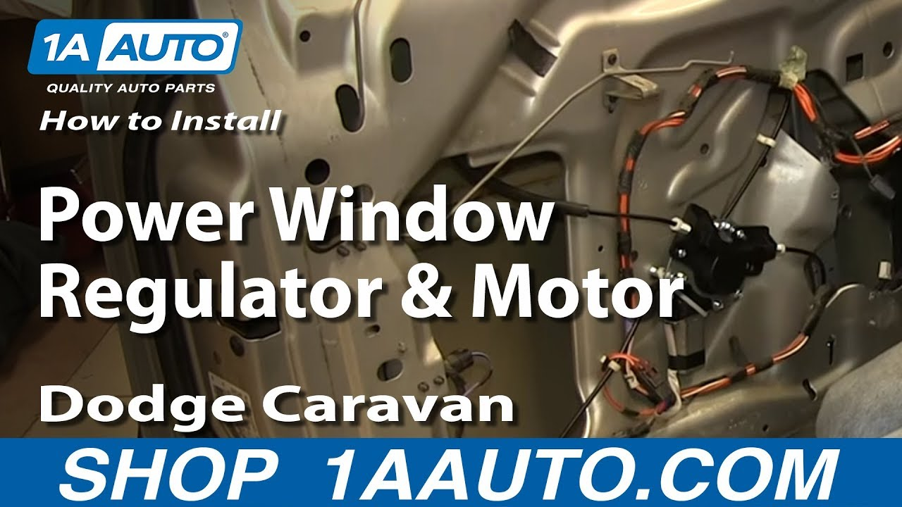 How To Install Replace Power Window Regulator and Motor 200103 Dodge Caravan  YouTube