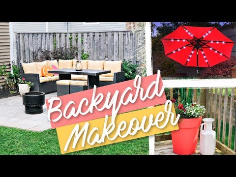 Backyard Makeover Reveal | 2019 DIY – Paver's Patio, Gardening, New Furniture