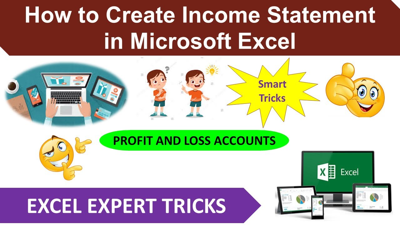 How to Create Income Statement Profit and Loss Account in – Income Statement Microsoft