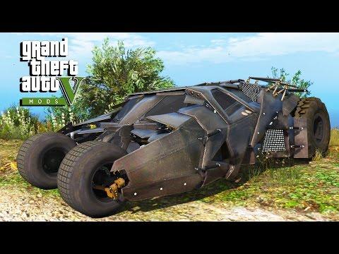 Gta 5 The Tumbler Batmobile Mod Youtube
