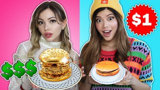 Expensive VS Cheap Food Challenge ft @Gloom