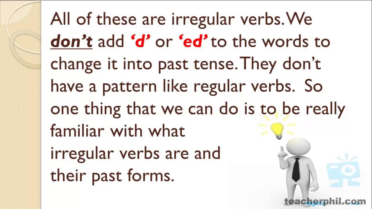 Difference Between Regular And Irregular Verbs