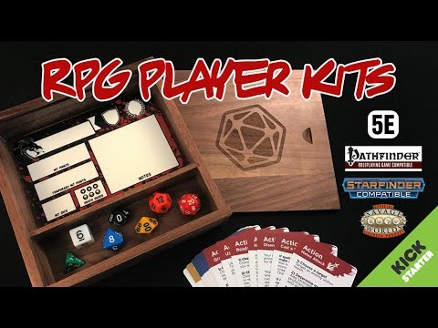 RPG PLAYER KITS On KICKSTARTER For DnD 5e, Savage Worlds, Pathfinder, Starfinder, Etc. - Crit Games