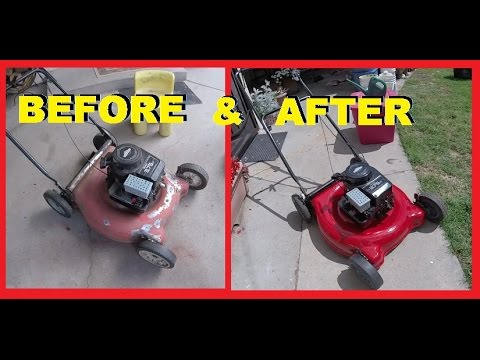 How To Re Your Old Ugly Lawn Mower With Paint Tlc Jonny Diy