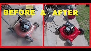 How To Restore your Old Ugly Lawn Mower with Paint & TLC -Jonny DIY