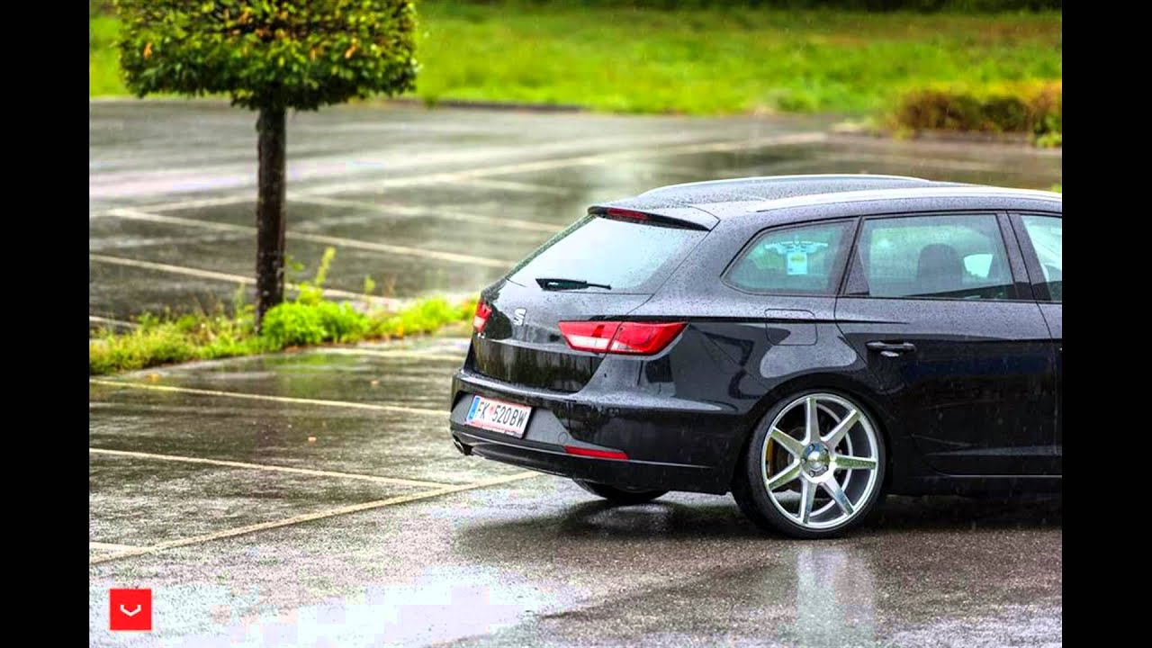 fotoserie tuning seat leon st fr vossen wheels cv7. Black Bedroom Furniture Sets. Home Design Ideas