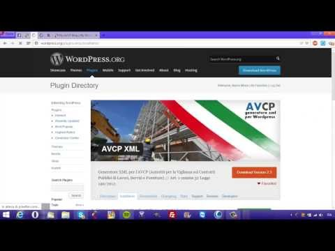 Generatore Dataset XML AVCP | Wordpress