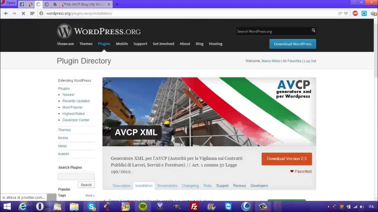 generatore dataset xml avcp wordpress youtube