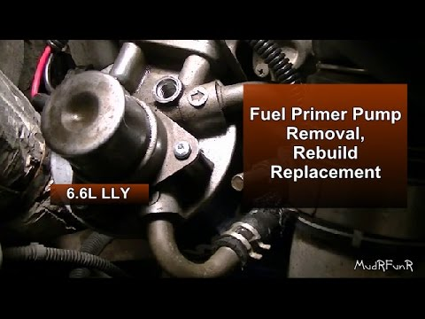 2006 duramax fuel filter head fuel primer pump removal  rebuild   assembly lly duramax youtube  fuel primer pump removal  rebuild