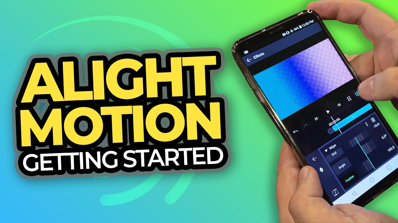How to use the Alight Motion application for beginners