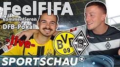 DFB-Pokal: Erné und Stefan von FeelFIFA kommentieren Dortmund gegen Gladbach | Sportschau