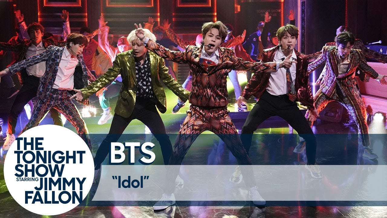 "Watch BTS Perform ""I'm Fine"" and ""Idol"" on ""Fallon"" 