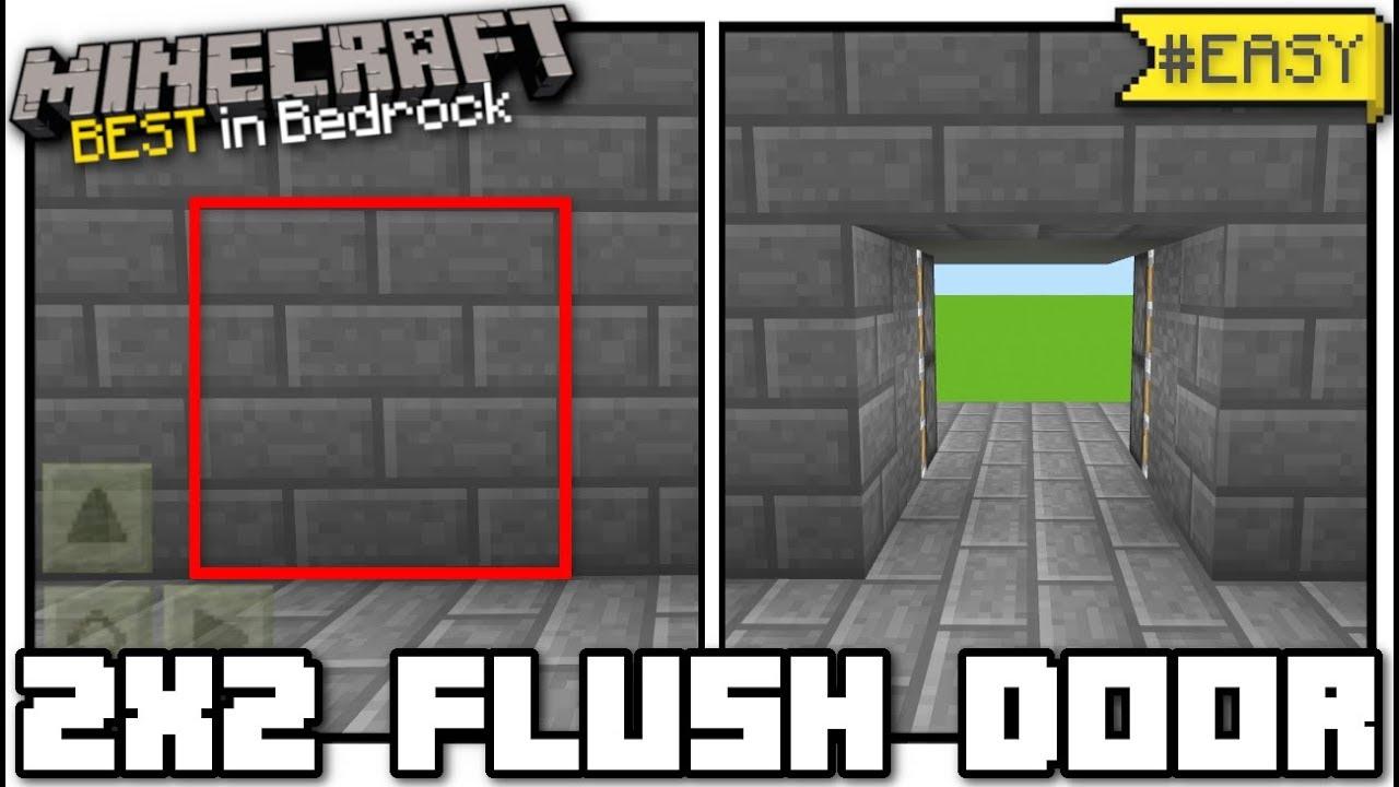 Minecraft Bedrock 2x2 Flush Piston Door Jeb Door Tutorial Ps4 Mcpe Xbox Switch Youtube