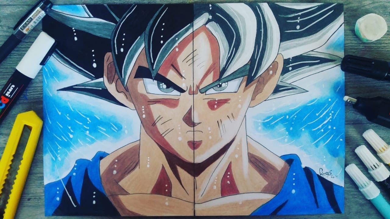 Como Desenhar Goku Instinto Superior Incompleto Instinto Superior Completo How To Draw Goku