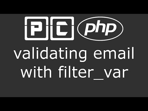 Validating forms with PHP -