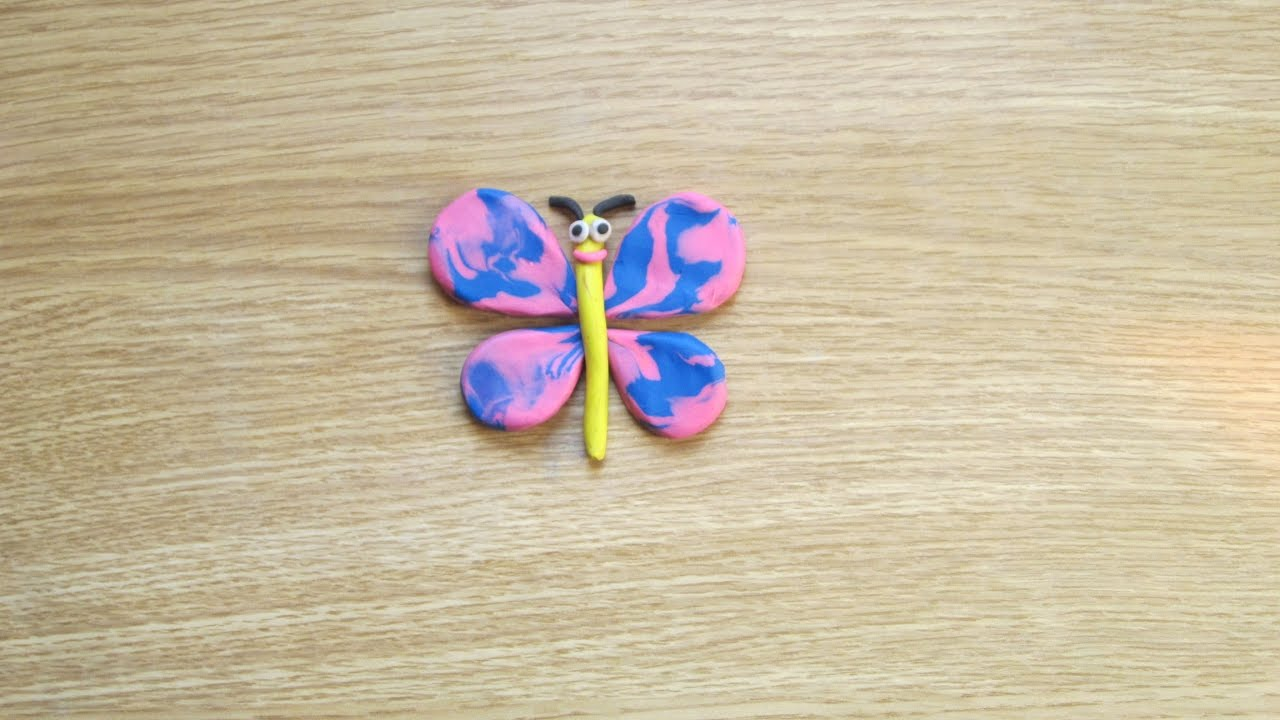How To Make Butterfly With Clay