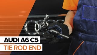 Outer tie rod installation AUDI A6: video manual