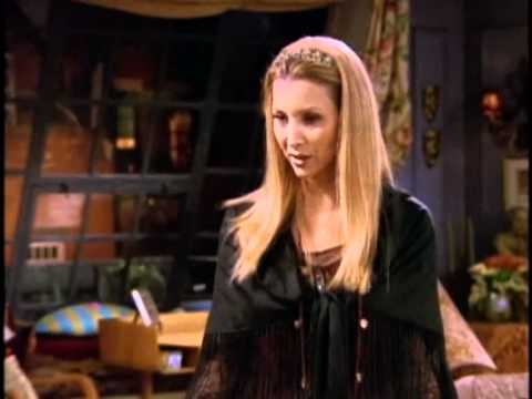 Phoebe teaches Joey to play guitar - YouTube