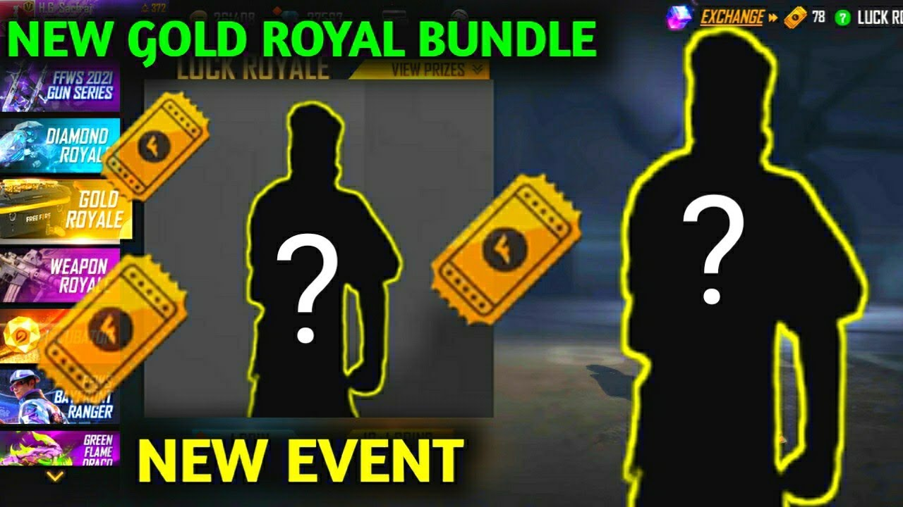 FREE FIRE NEW GOLD ROYAL BUNDLE & NEW EVENT- Garena free fire
