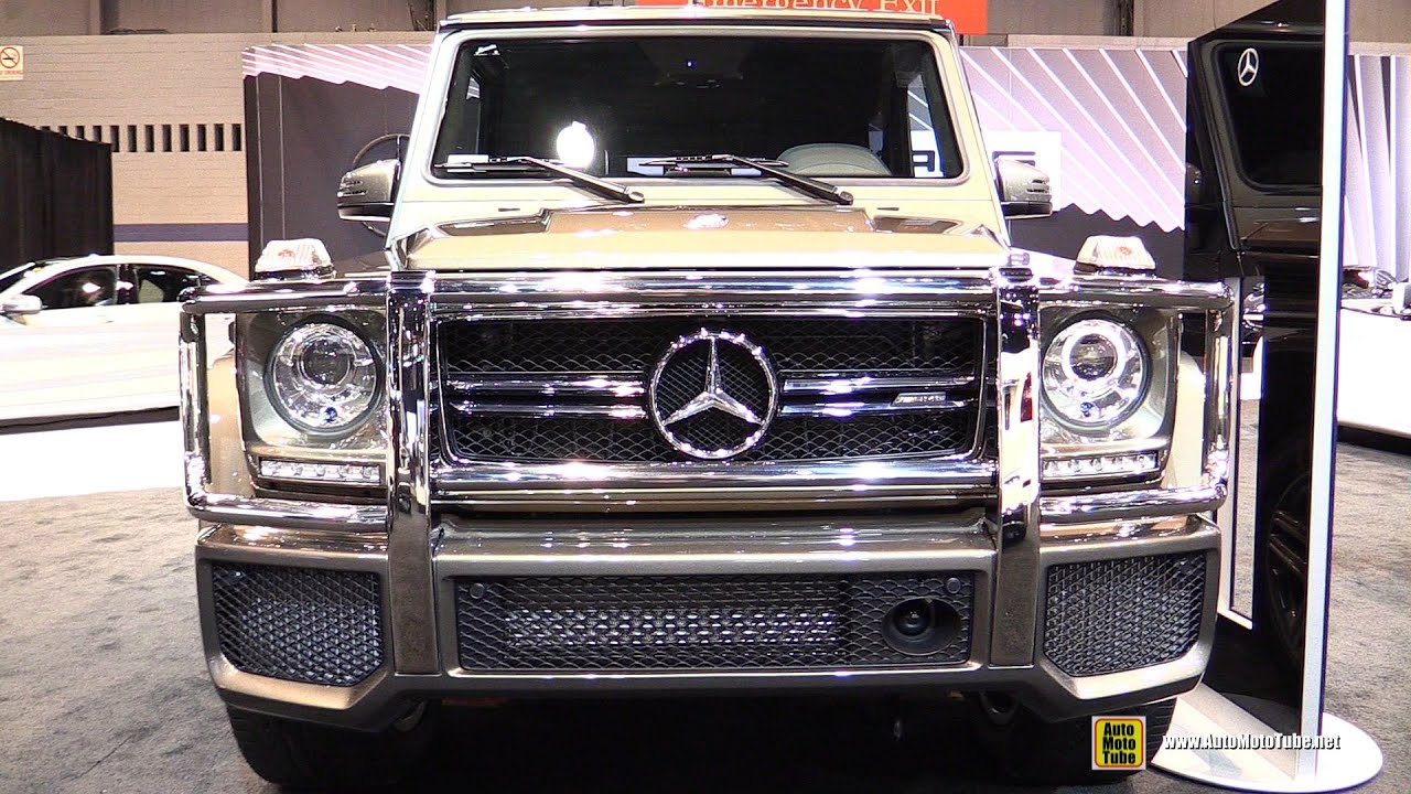 2015 mercedes benz g class g63 amg exterior interior walkaround 2015 chicago auto show. Black Bedroom Furniture Sets. Home Design Ideas