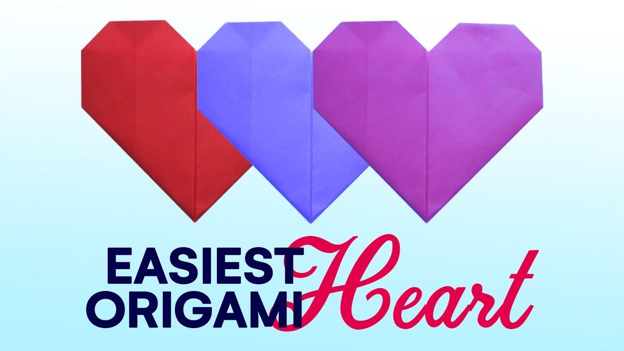 Оригами сердечко как открытка