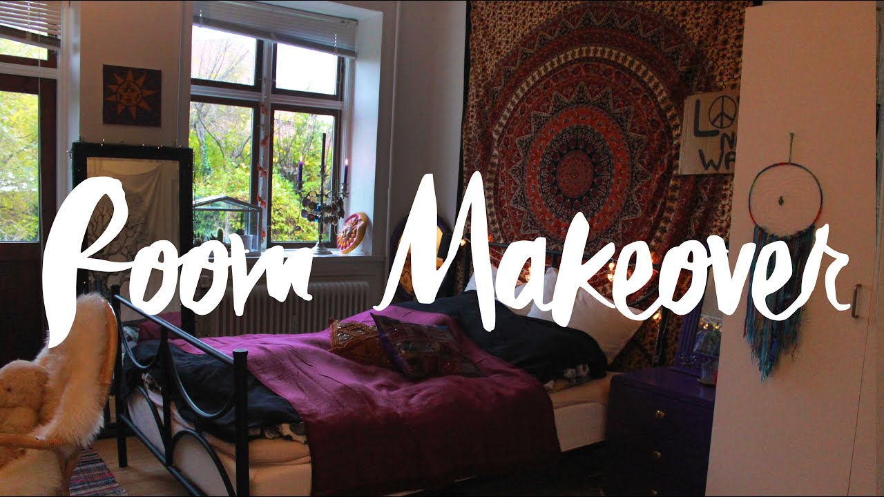 Room Makeover Tumblr My Room Makeover Bohemian And Hippie Inspired Youtube