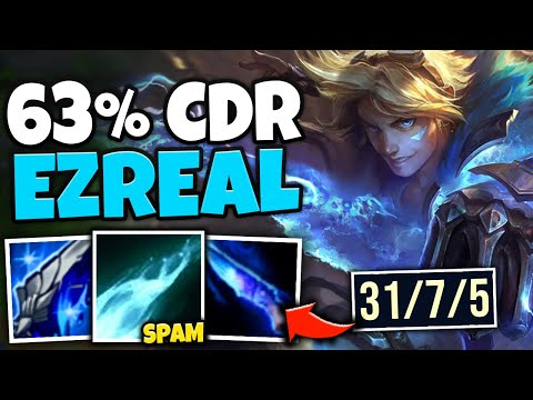 I HIT 63% CDR ON LETHALITY EZREAL! SHOOT Q EVERY .7 SECONDS - League of Legends