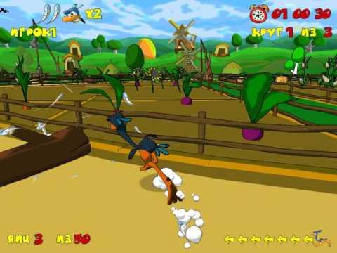 Страусиные Бега мультяшная игра  бега страусов с препятствиями детский мульт
