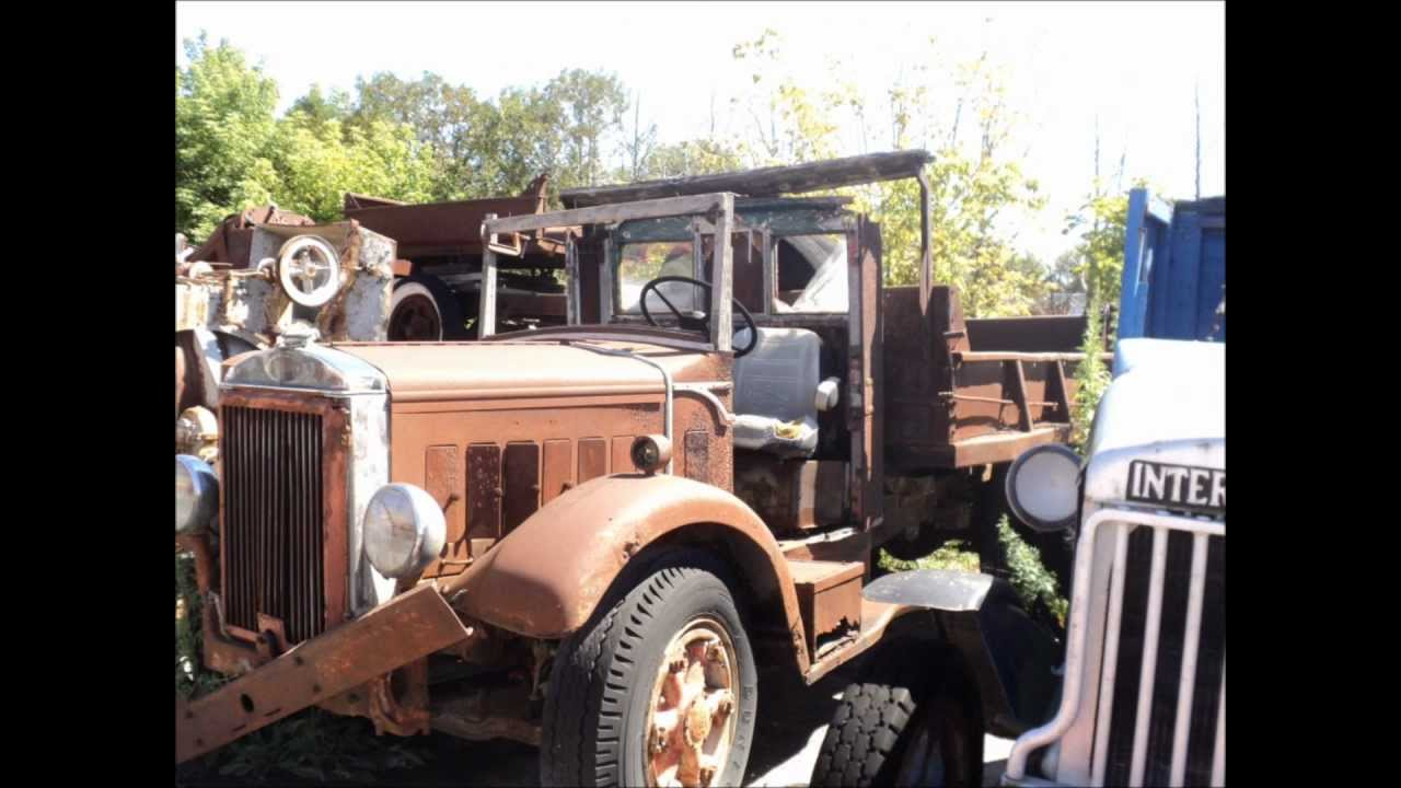 Antique truck collection, Greigsville N.Y. - YouTube