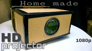 How to make HD projector at home   mobile projector