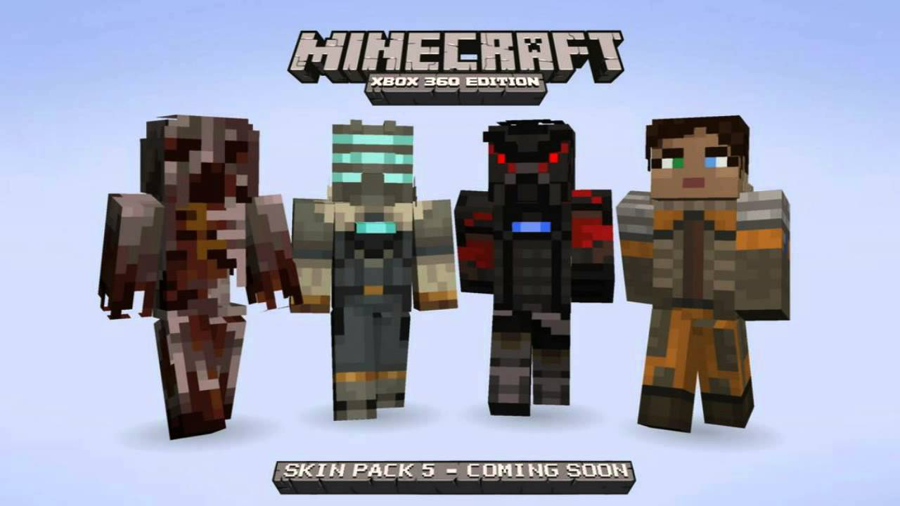 Minecraft (Xbox 360) - Dead Space Skins in SP5 - YouTube