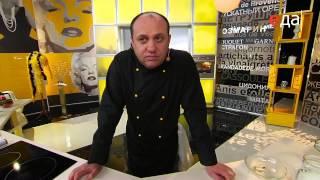 Стейк из семги с грецкими орехами