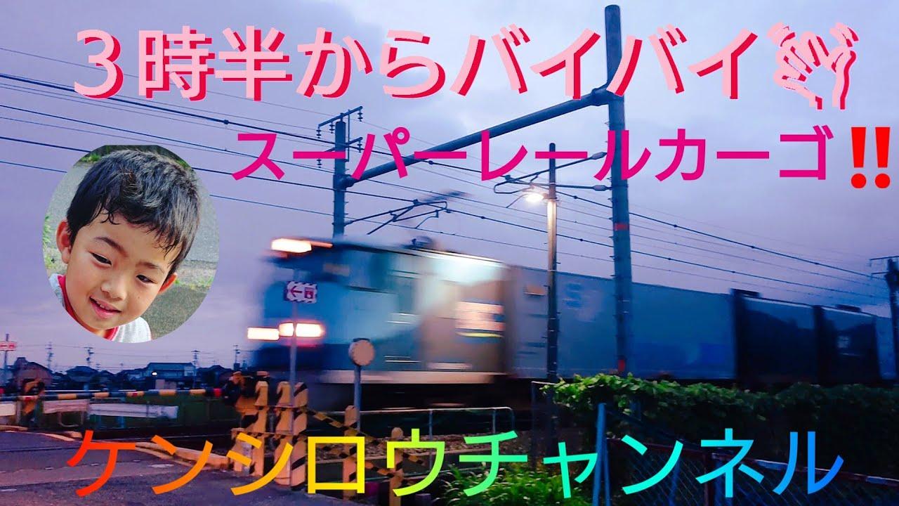 朝3時半から貨物列車にバイバイしてきましたよ🤩スーパーレールカーゴや福山レールエクスプレスなど色々会えましたよ‼️