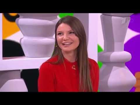 """Виктория Черенцова в программе """"Видели видео"""" на Первом канале."""