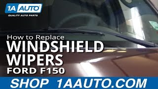How To Change Replace Windshield Wipers 2004-11 Ford F150