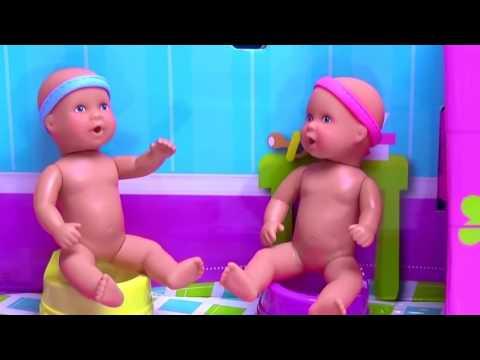 Baby Doll Potty  Barbie baby dolls eat  poop fun potty toy