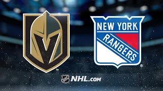Rangers rally late to defeat Golden Knights, 6-4